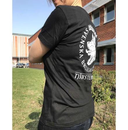 T-shirt Tjänstehund svart